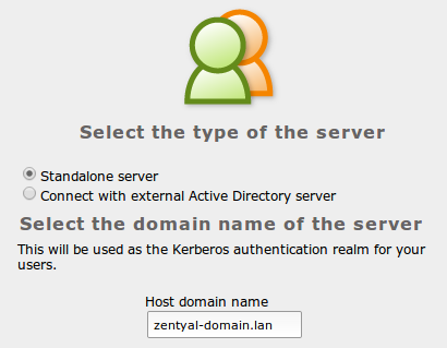 Local domain for the server