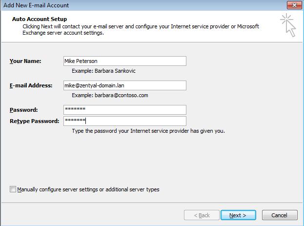 How to configure Zentyal's Microsoft Outlook®-compatible