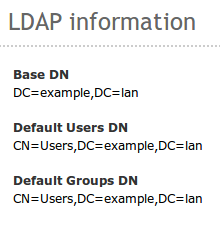 LDAP configuration in Zentyal