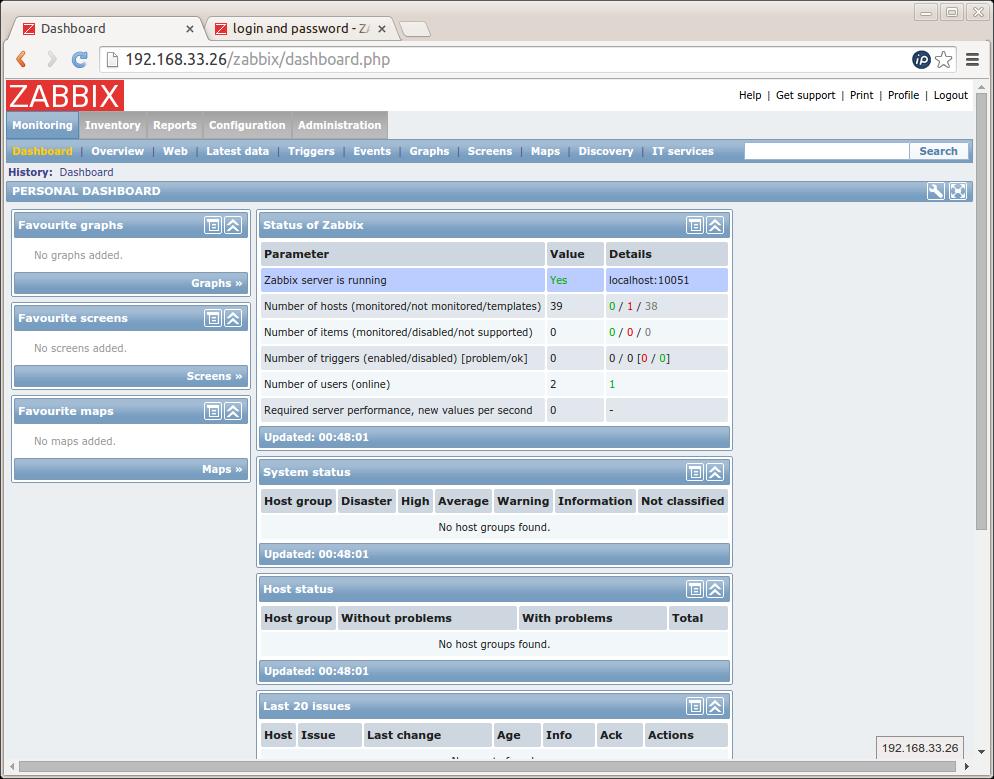 Zentyal server monitoring with Zabbix - Zentyal Linux Small Business