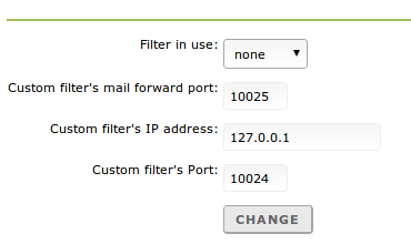 Mailfilter options
