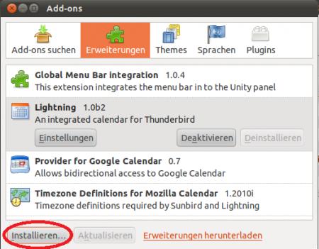 Thunderbird Sync - Zentyal Linux Small Business Server