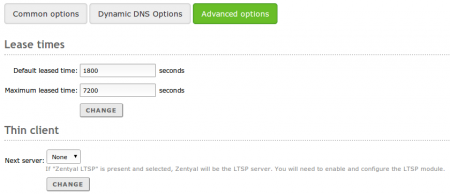 Advanced DHCP options