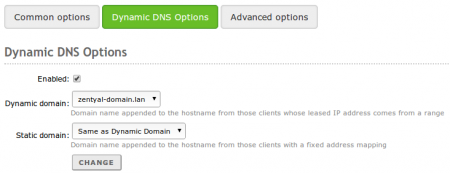 Configuration of dynamic DNS updates