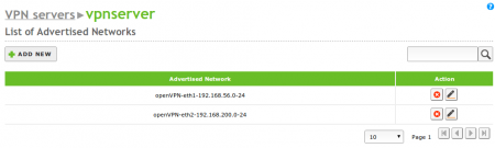 Advertised networks of your VPN server