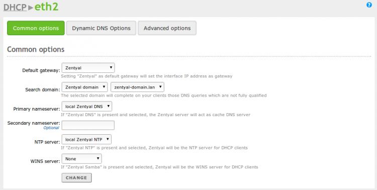 En/3 5/Network configuration service (DHCP) - Zentyal Linux Small